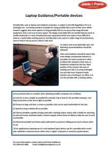 Laptop guidance