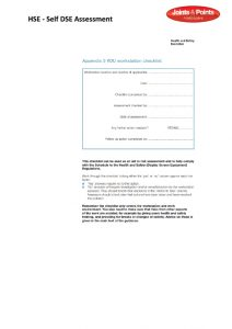 Self DSE assessment